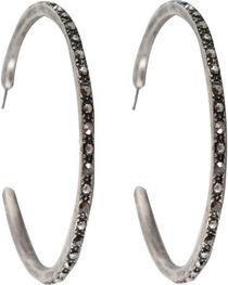 Shyanne® Women's Embellished Hoop Earrings, , hi-res