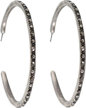 Shyanne® Women's Embellished Hoop Earrings, Silver, hi-res