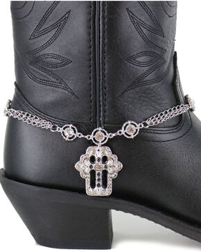 Shyanne® Women's Silver Cross Boot Bracelet , Silver, hi-res