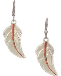 Montana Silversmiths No Dream Is Too Small Feather Earrings, , hi-res