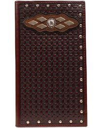 Ariat Basketweave & Concho Inlay Rodeo Wallet, , hi-res