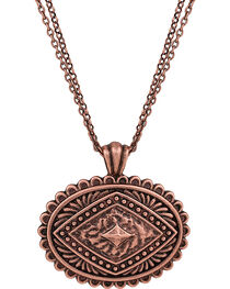 Rock 47 by Montana Silversmiths Points of Aztec Copper-Tone Pyramid Necklace, , hi-res