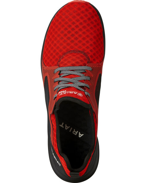 Ariat Men's Fuse Rodeo Red Mesh Shoes, Red, hi-res