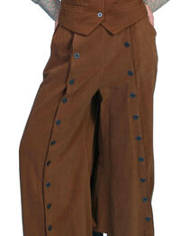 Rangewear by Scully Brushed Twill Riding Skirt, Brown, hi-res