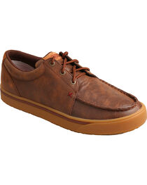 HOOey Twisted X Men's Leather Lace-Up Shoes, , hi-res