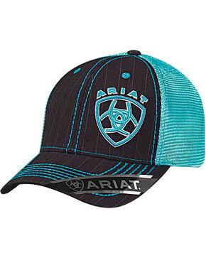 Ariat Men's Offset Logo Ball Cap, Grey, hi-res