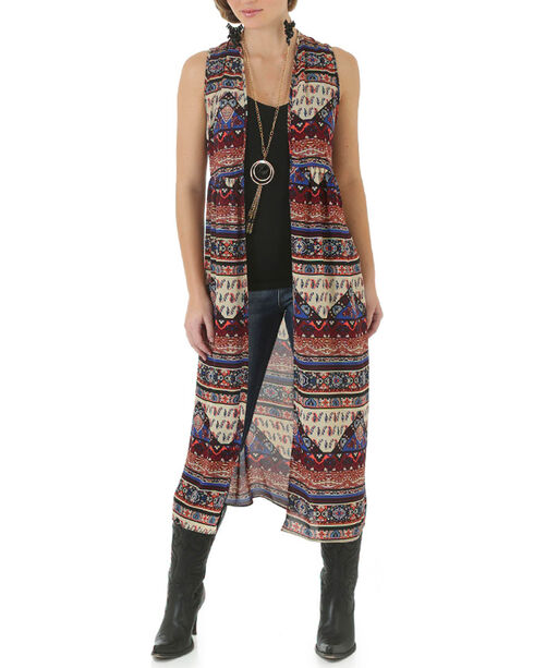 Wrangler Women's Flowing Lace Back Fashion Duster, , hi-res