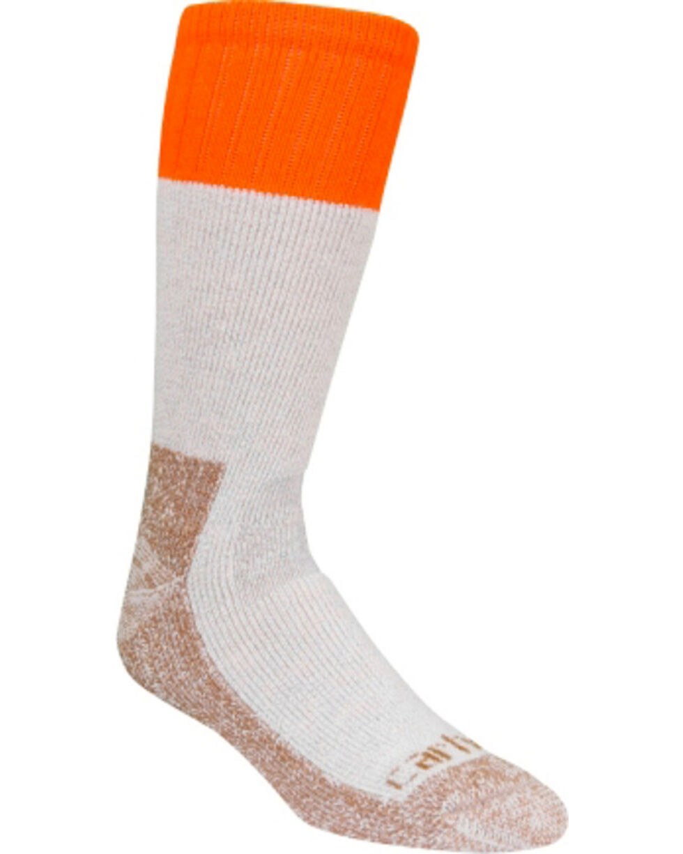 Carhartt Men's All Season Steel Toe Socks, Tan, hi-res