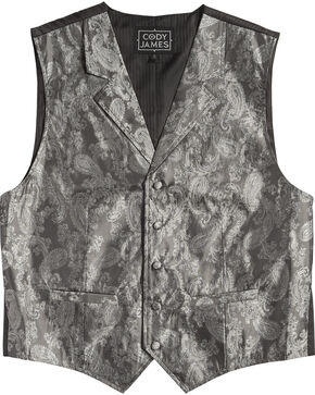 Cody James Men's Paisley Print Western Vest , , hi-res