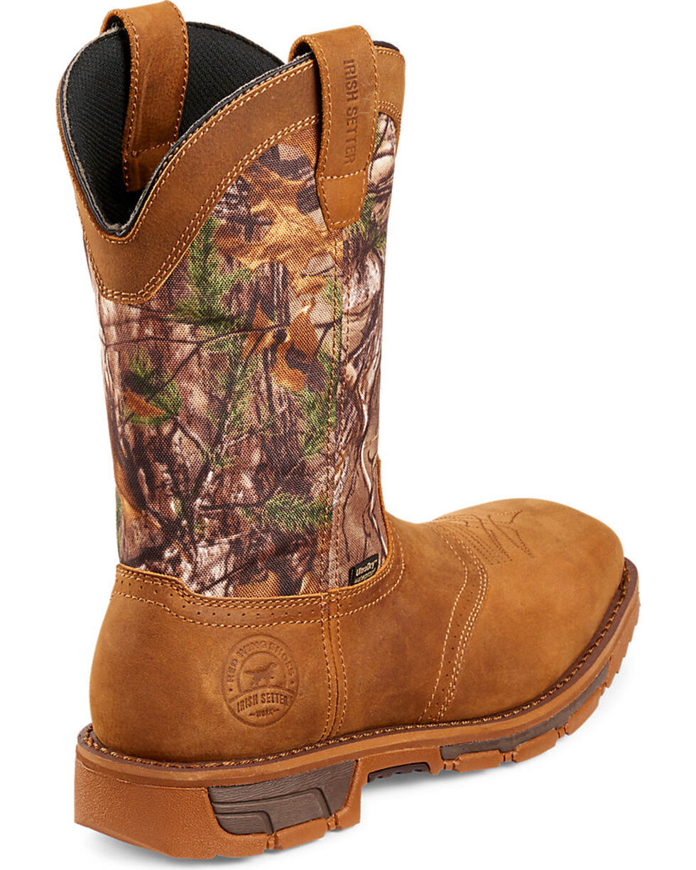 Irish Setter by Red Wing Shoes Men's Marshall RealTree Camo Work Boots - Steel Toe , Camouflage, hi-res
