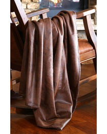 Carstens Crocodile Brown Throw, , hi-res