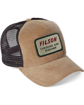 Filson Men's Tan Alcan Cord Mesh Hat , Tan, hi-res