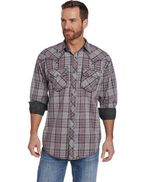 Cowboy Up Men's Long Sleeve Vintage Plaid Shirt , Multi, hi-res