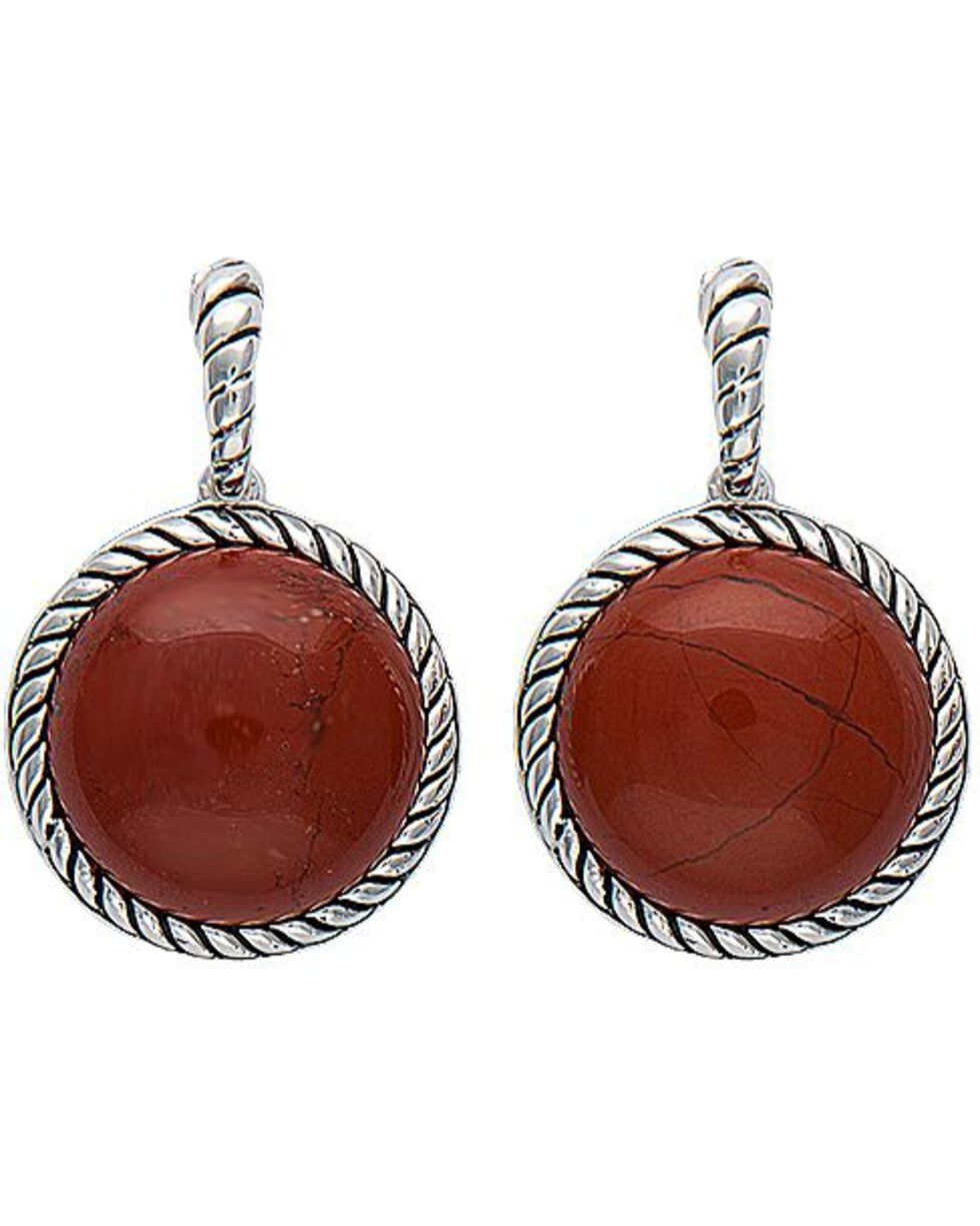 Montana Silversmiths Canyon Colors Redstone Drops Earrings, Silver, hi-res