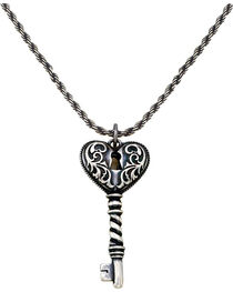 Montana Silversmith Women's Heart Key Necklace, , hi-res