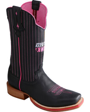 Twisted X Women's Tough Enough Red River Western Boots, Black, hi-res