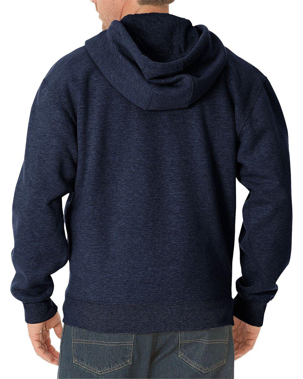 Dickies Midweight Fleece Zip-Up Hooded Work Jacket - Big & Tall, Navy, hi-res