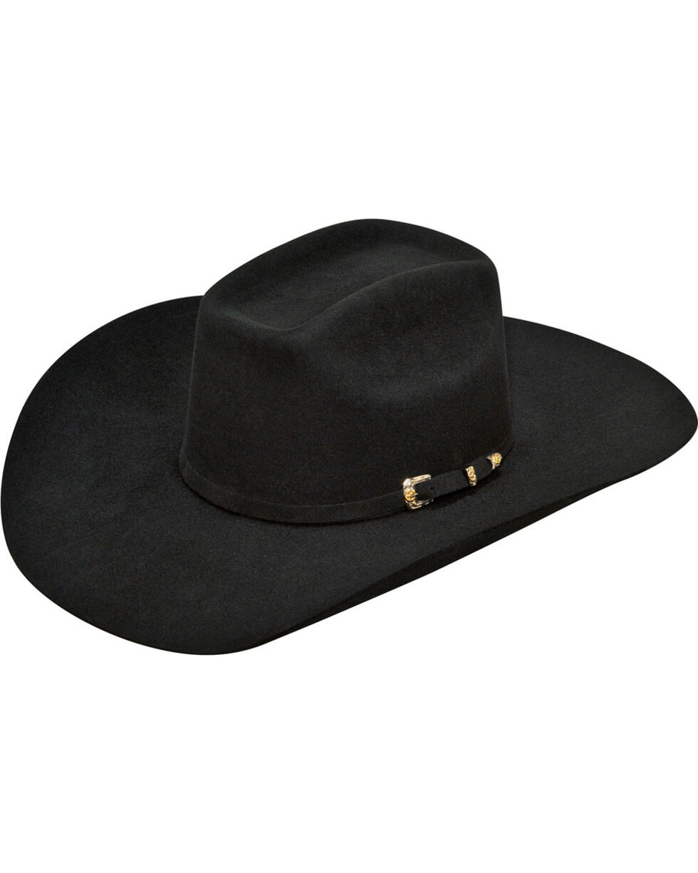 Ariat Men's Wool Cowboy Hat, Black, hi-res