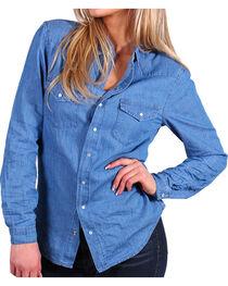 Angel + Premium Women's Chambray Shirt, , hi-res