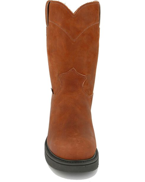 "Justin Men's Original 10"" Pull-On Work Boots, Bark, hi-res"