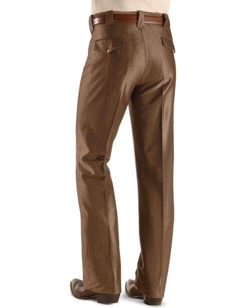 Circle S Men's Swedish Knit Snap Ranch Dress Pants, Brown, hi-res