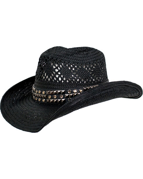 Peter Grimm Women's Black Tandy Cowgirl Hat , Black, hi-res