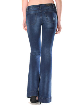 Grace in LA Women's Indigo Simple Trouser Jeans - Flare , Indigo, hi-res