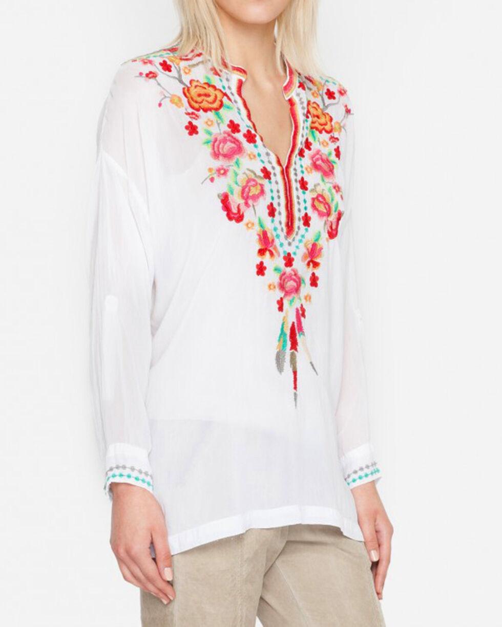 Johnny Was Women's White Blossom Blouse, White, hi-res