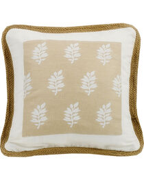 HiEnd Accents Cream Newport Square Pillow, , hi-res