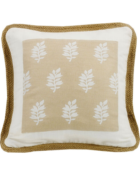 HiEnd Accents Cream Newport Square Pillow, Cream, hi-res