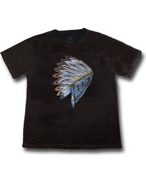 Hooey Men's First Headdress Graphic T-Shirt Black, , hi-res