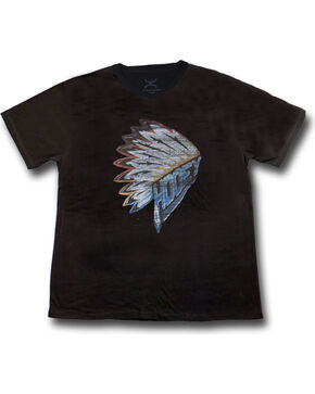 Hooey Men's First Headdress Graphic T-Shirt Black, Black, hi-res