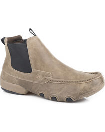 Roper Men's Brown Romeo Cruiser Casual Driving Moc Boots - Round Toe , , hi-res