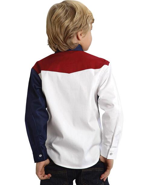 Roper Americana Collection Boys' Solid Block Western Shirt, , hi-res