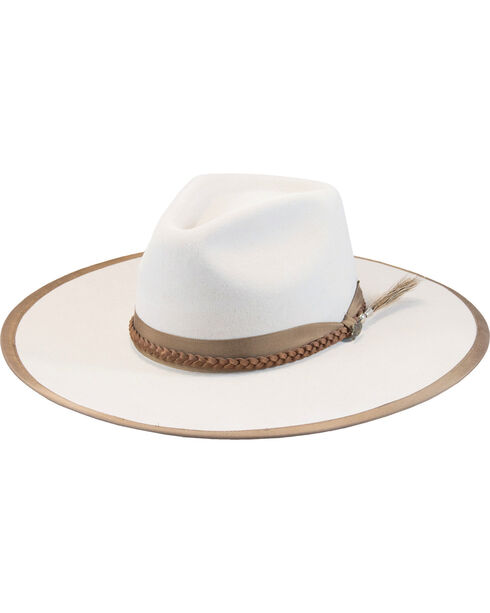 Justin Men's Buck 7X Fur Felt Magnificent Hat, Ivory, hi-res