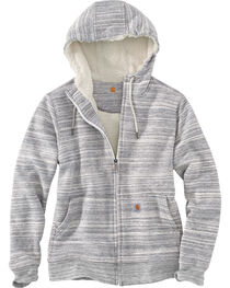Carhartt Women's Grey Clarksburg Sherpa Lined Hoodie , Grey, hi-res