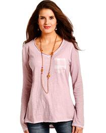 Panhandle Women's Pink Plaid Back Tunic , , hi-res