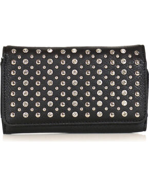 Accessories Plus Women's Rhinestone Wallet , Black, hi-res