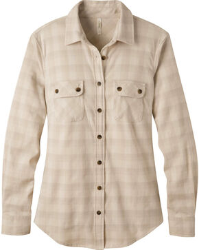 Mountain Khakis Women's Cream Peaks Flannel Shirt , Cream, hi-res