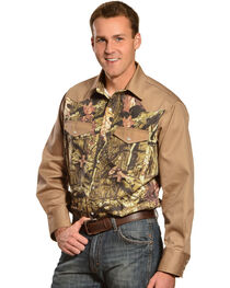 Gibson Trading Co. Camo and Khaki Long Sleeve Work Shirt, , hi-res