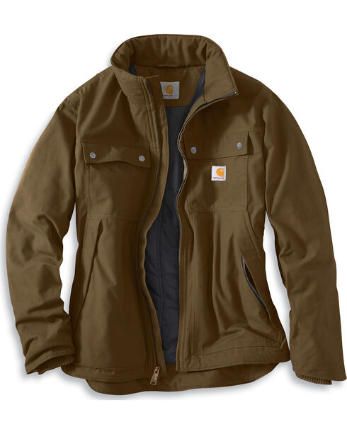 Carhartt Quick Duck® Jefferson Traditional Jacket, Brown, hi-res