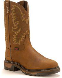 Tony Lama Men's TLX Steel Toe Waterproof Western Work Boots, , hi-res