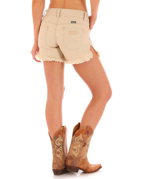 Wrangler Retro® Women's Tan Frayed Hem Sadie Shorts , Natural, hi-res