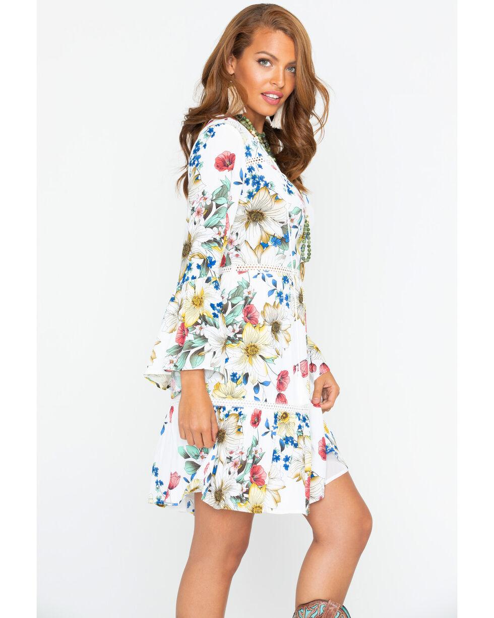 Miss Me Women's Garden Variety Floral Dress , White, hi-res