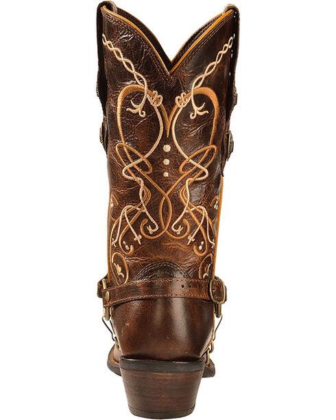 Durango Women's Boot Barn Exclusive Heart Concho Crush Western Boots, Brown, hi-res