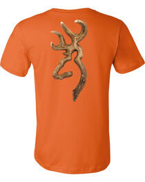Browning Men's Antler Buckmark Orange Short Sleeve Tee, , hi-res
