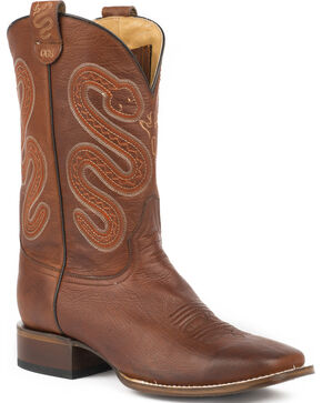 Roper Men's Brown Conceal Carry Pocket Pierce Boots - Square Toe , Brown, hi-res