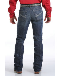 Cinch Men's Ian Dark Stonewash Slim Fit Jeans - Boot Cut, , hi-res