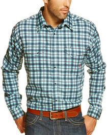 Ariat Men's FR Trenton Plaid Long Sleeve Work Shirt, , hi-res