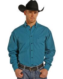 Panhandle Slim Men's Turquoise Check Western Shirt , , hi-res